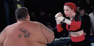 Video: 139-pound woman TKO's 529-pound man at MMA event in Russia