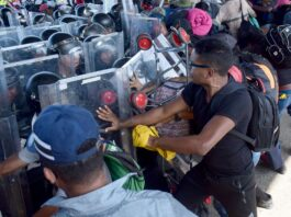 Mexico Migrant Caravan Pushes Past Police as Group Heads North